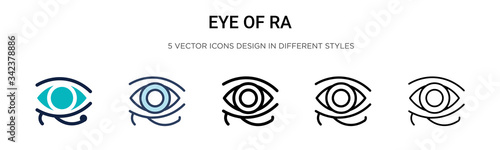 Papel de parede Eye of ra icon in filled, thin line, outline and stroke style