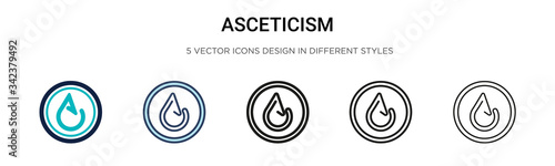 Asceticism icon in filled, thin line, outline and stroke style Canvas Print