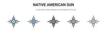 Native American Sun Icon In Fi...