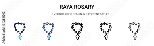 Fotomural Raya rosary icon in filled, thin line, outline and stroke style