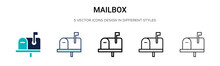 Mailbox Icon In Filled, Thin L...