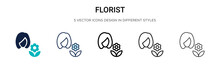 Florist Icon In Filled, Thin L...