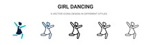 Girl Dancing Icon In Filled, T...