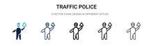 Traffic Police Icon In Filled,...