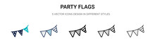 Party Flags Icon In Filled, Th...