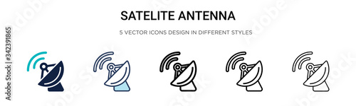 Satelite antenna icon in filled, thin line, outline and stroke style Wallpaper Mural