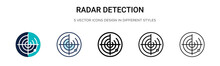 Radar Detection Icon In Filled...