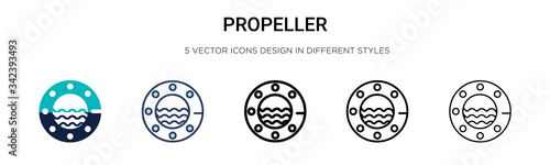 Photo Propeller icon in filled, thin line, outline and stroke style