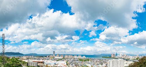 Fototapete - 都市風景 福岡市