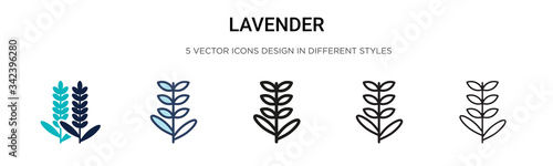 Canvastavla Lavender icon in filled, thin line, outline and stroke style
