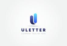 Letter U Logo. U Letter Design Vector Template.