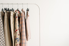 Rack With Capsule Clothes In B...