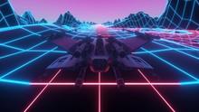 Futuristic Spaceship Flying Th...