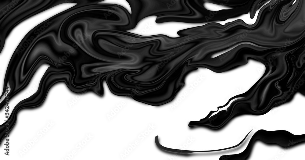 Fototapeta Crude oil on white background