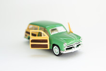 Vintage Car Toy Car On A White Background
