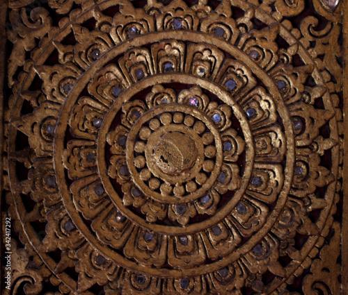 Photo Relieve templo budista