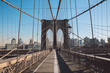 Low Angle View Of Brooklyn Bridge In City
