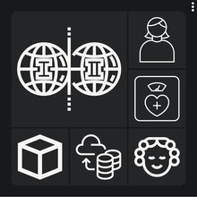 Set Of 6 Analogy Lineal Icons