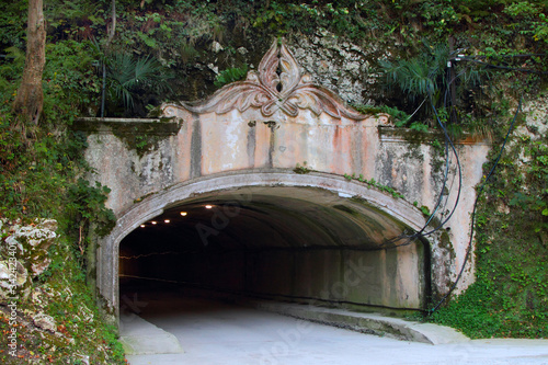 Road tunnel in the city of New Athos. Canvas Print