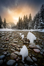 Mountain River In The Tatras, ...