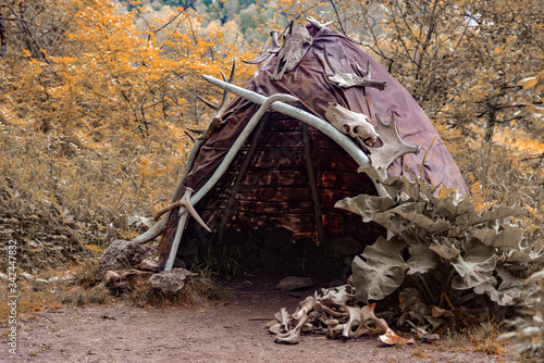 Fotomural Reconstruction of the human dwelling of the Stone Bronze Age