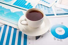 A Cup Of Coffee On Business Ch...
