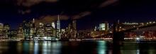 Illuminated New York City At Night