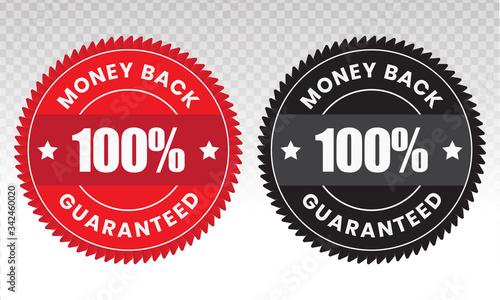 Papel de parede 100 percent money back label vector flat icon for customer satisfaction guarante