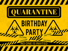 Quarantine Birthday Party Sign...