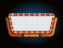 Theater Sign Billboard Frame Design