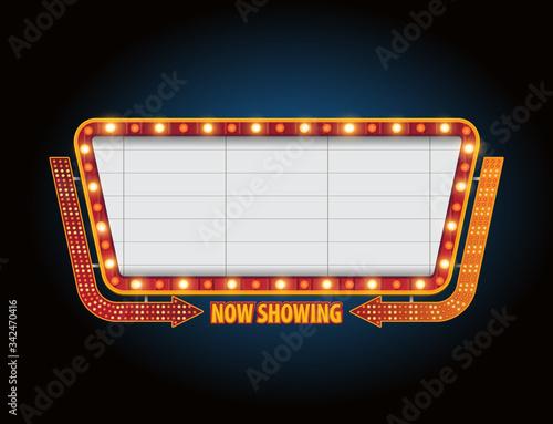 Theater sign billboard frame design Wallpaper Mural