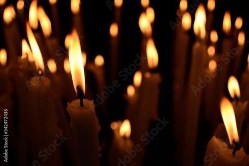 Candelle di Lourdes Billede på lærred