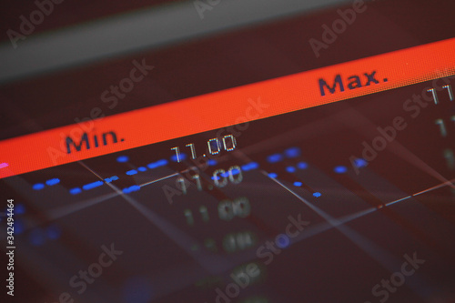 Fotografering Abstract finance background