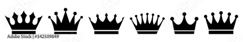 Fototapeta Crown icons set. Vector illustration