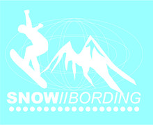 Winter Sports Print And Embroi...