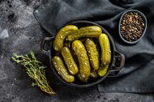 Plate Of Pickled Homemade Cucu...