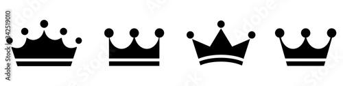 Fototapeta Big set quality crowns