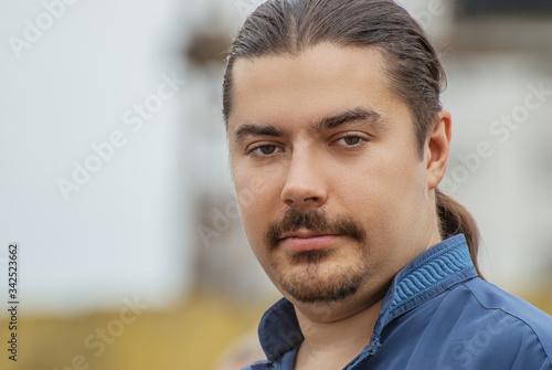 Portrait of a beautiful young dark-haired man Slika na platnu