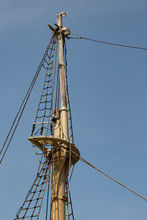 View Of An Old Tall Ship Mast ...