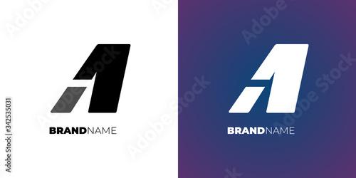 Photo Letter A1 or 1A simple logo design concept