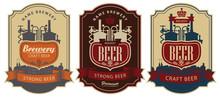 Set Of Vector Labels For Beer ...