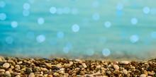Sea Waves Closeup And Pebbles ...