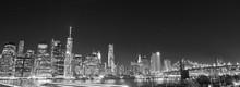 New York Skyline At Night In B...