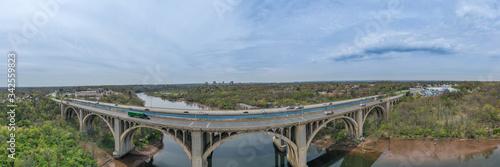 Drone of Donald Goodkind Bridge Raritan River New Jersey Wallpaper Mural