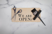 Hair Salon We Are Open Sign No...