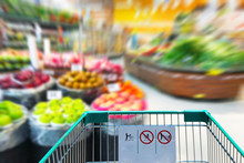 Shopping Cart In Supermarket W...