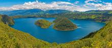 Panorama Of Cuicocha Lake Alon...