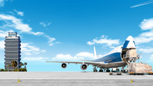 Loading Cargo Airplane On Airp...