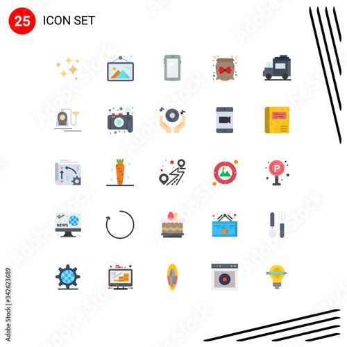 25 Flat Color concept for Websites Mobile and Apps gift, candy, frame, bag, andr Wallpaper Mural