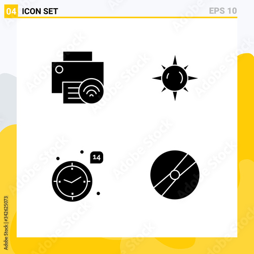 Set of Commercial Solid Glyphs pack for computers, love, hardware, day, heart фототапет